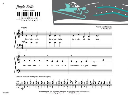 Piano Adventures Student Choice Christmas Level 1